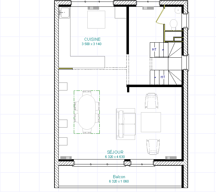 Le plan du 1er étage